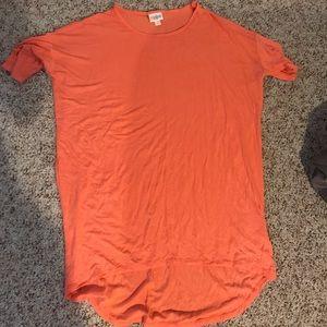 Lularoe orange Irma XS